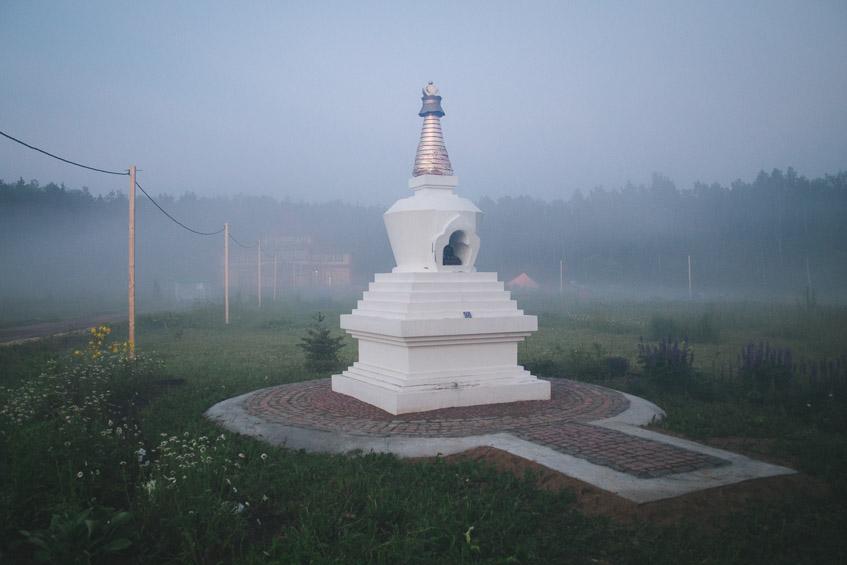 Буддийская ступа в Тубтен Линг