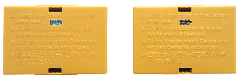 Обозначение заряда батареи на крышках Canon
